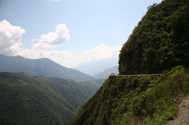 Mountain Biking the Death Road, Bolivia